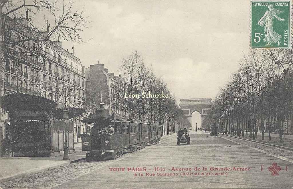 Tout Paris 1510 - Avenue de la Grande Armée à la Rue Obligado