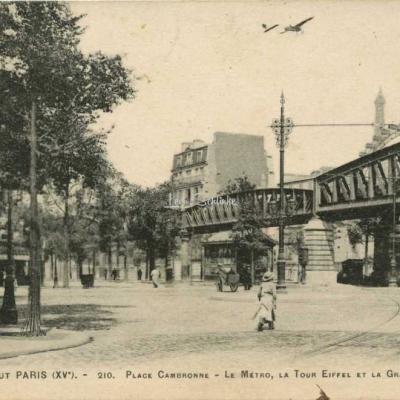 Tout Paris 1571-210 - Pl. Cambronne, Métro, Tour Eiffel et Grande Roue