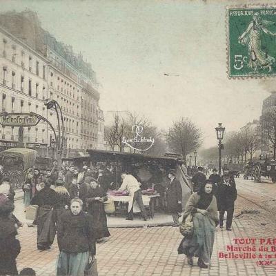 Tout Paris 1602 - Marché du Boulevard de Belleville