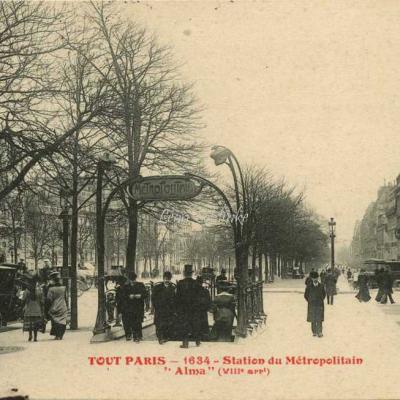 Tout Paris 1634 - Station du Métropolitain ''Alma'' (VIII° arrt)