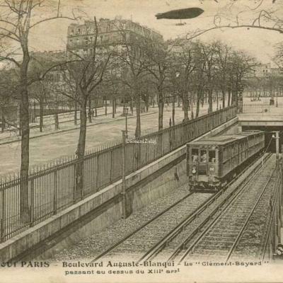 Tout Paris 1797 - Bd Auguste-Blanqui - Le Clément-Bayard passant au-dessu du XIII° arrt.