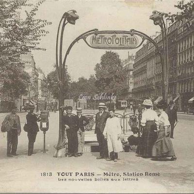 Tout Paris 1813 - Métro, Station Rome