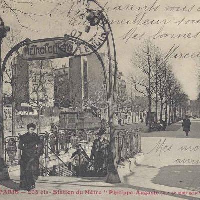 Tout Paris 205 bis - Station du Métro ''Philippe-Auguste