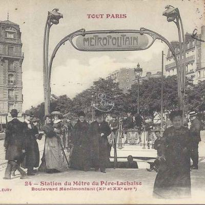 Tout Paris 24 - Station du Métro du Père-Lachaise Bd Ménilmontant