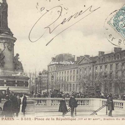 Tout Paris 3-582 - Place de la République, Station du Métropolitain