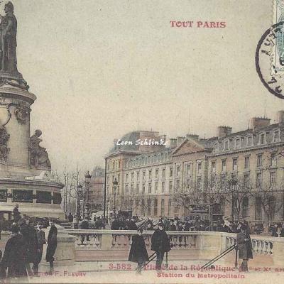 Tout Paris 3-582 - Place de la République - Station du Métropolitain
