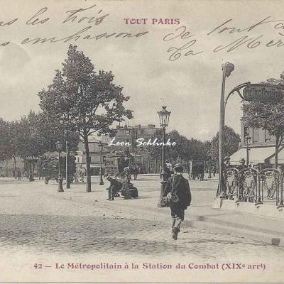 Tout Paris 42 - Le Métropolitain à la Station du Combat