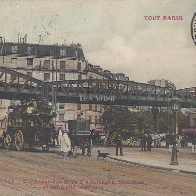 Tout Paris 446 - Carrefour des Rues d'Allemagne, Secrétan et Lafayette
