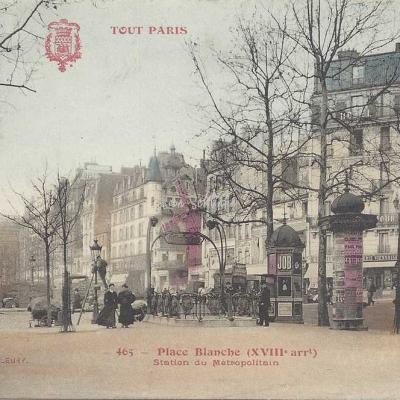 Tout Paris 465 - Place Blanche - Station du Métro