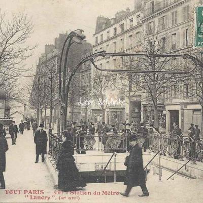 Tout Paris 491 - Station du Métro ''Lancry''
