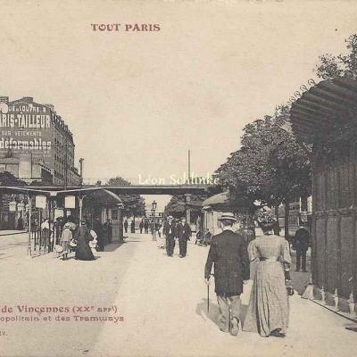 Tout Paris 513 - Cours de Vincennes, Station du Métro et Tramways