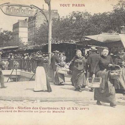Tout Paris 73 - Le Métropolitain - Station des Couronnes