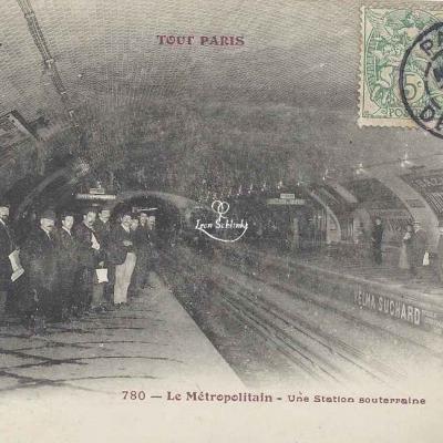 Tout Paris 780 - Le Métropolitain - Une Station souterraine