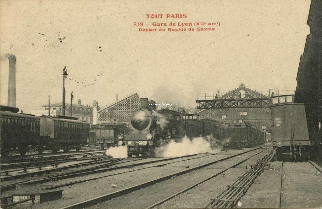 TOUT PARIS 819 - Gare de Lyon (XII° arrt) - Départ du Rapide de Savoie