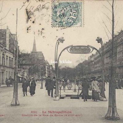 Tout Paris 850 - Station de la Rue de Rome
