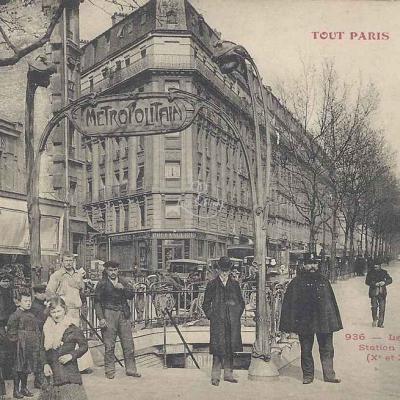 Tout Paris 936 - Le Métropolitain Station ''Belleville''