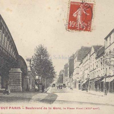 Tout Paris 952 - Boulevard de la Gare, angle accès Place Pinel