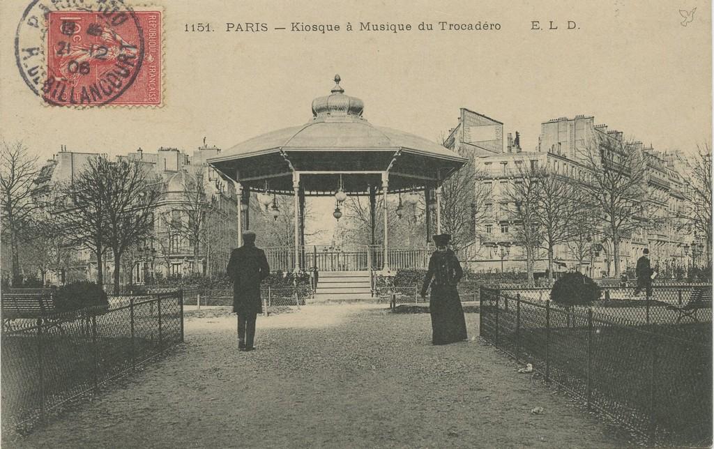 ELD 1151 - PARIS - Kiosque à Musique du Trocadéro