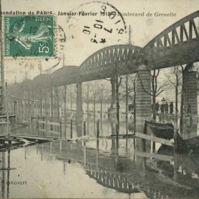 Vandenhove-Liancourt - Inondations 1910 - Boulevard de Grenelle