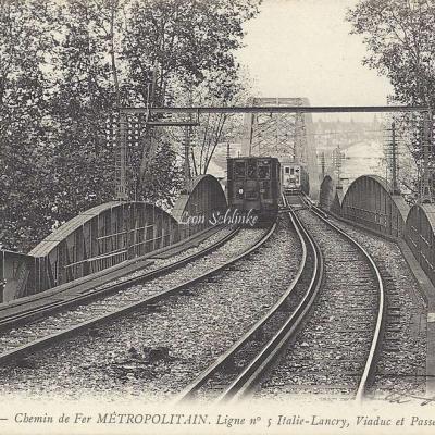ND 1941 - Viaduc et Passerelle d'Austerlitz