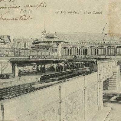 VP 132 - Paris - Le Métropolitain et le Canal