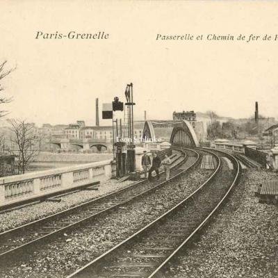 VP 159 - Paris-Grenelle - Passerelle et Chemin de fer de Passy