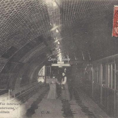CM 694 - Vue intérieure d'une Gare Souterraine