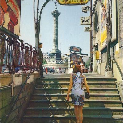 Yvon 10-14057 - La sortie du Métro, Place de la Bastille