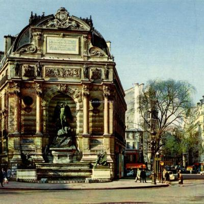 Yvon 10·7997 - PARIS - Fontaine Saint-Michel