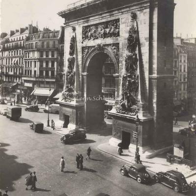 Yvon IB 643 - Porte St-Denis élevée en 1672 à la gloire de Louis XIV